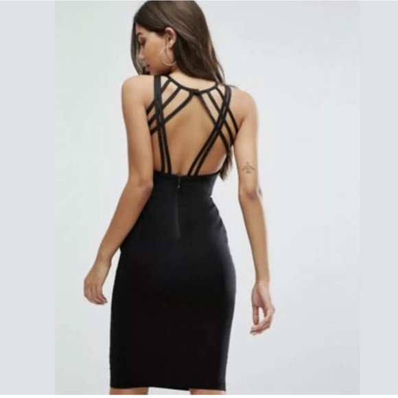 ASOS Exclusive Strappy Back Dress Black Size 6P